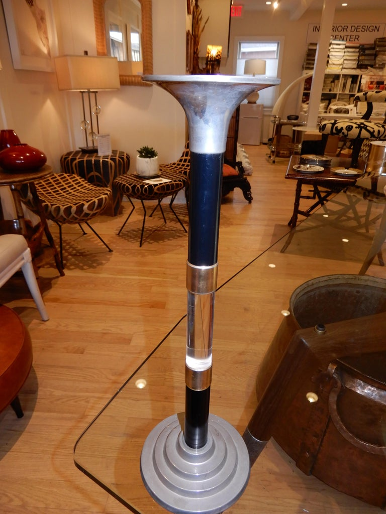 Industrial Pair of  Modern Candle Sticks, circa 1985 For Sale