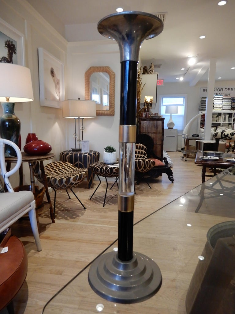 Pair of  Modern Candle Sticks, circa 1985 In Excellent Condition For Sale In Bellport, NY