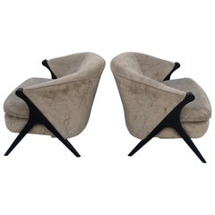 Pair of Karpen Style Compass Chairs