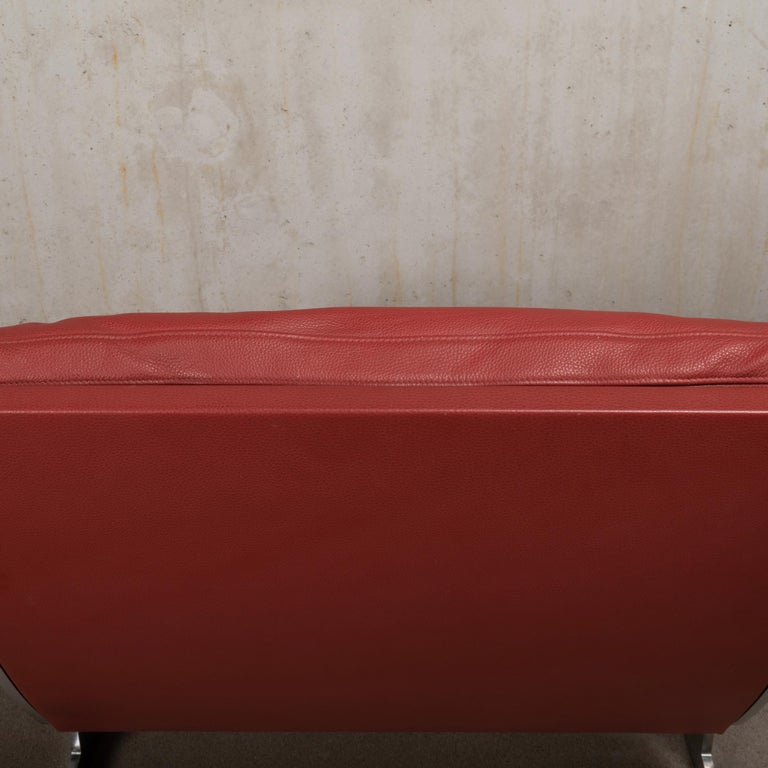 Pair of Kastholm & Fabricius BO-561 Lounge Chairs in Ruby Red Leather by Bo-Ex For Sale 9