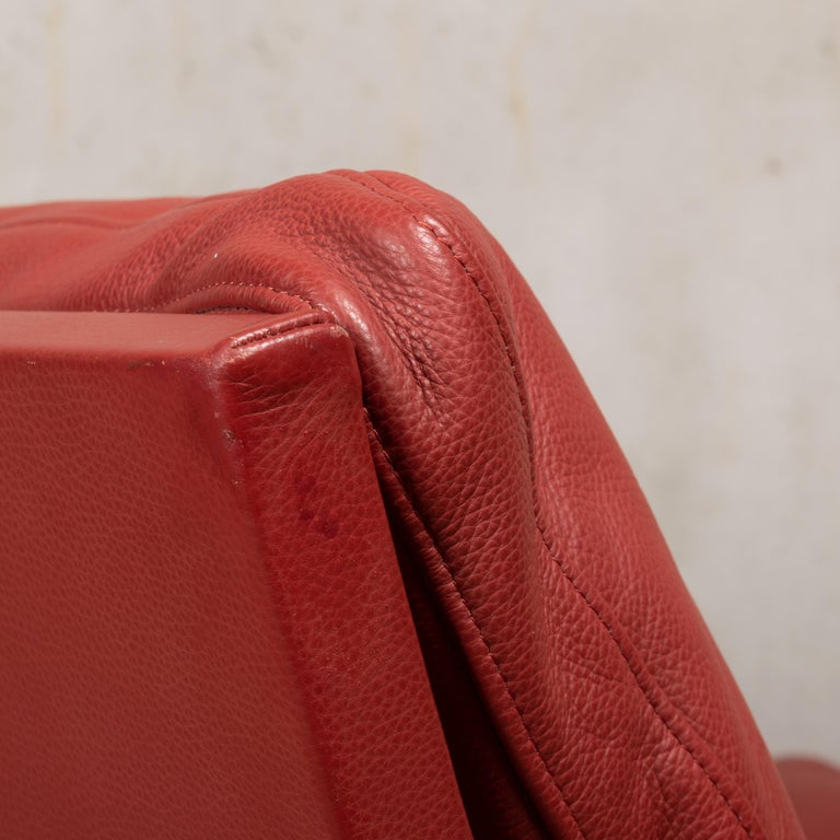 Pair of Kastholm & Fabricius BO-561 Lounge Chairs in Ruby Red Leather by Bo-Ex For Sale 12