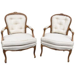 Pair of Kaylyn Louis XVI Style Armchairs