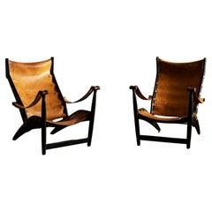 Pair of Københavnerstolen II  Easy Chairs by Mogens Voltelen, Denmark, 1960s
