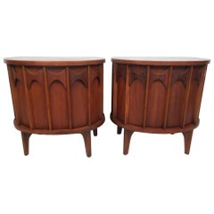 """Pair of Kent Coffey """"Perspecta"""" End Tables"""