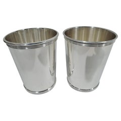 Pair of Kentucky Derby Day Sterling Silver Mint Juleps