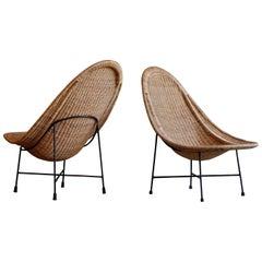 Pair of Kerstin Hörlin-holmquist Easy Chairs Model Stora Kraal, 1960s