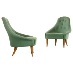 Pair of Kerstin Horlin Holmquist Lilla Eva Armchairs, Sweden, 1950s