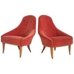 Pair of Kerstin Horlin-Holmquist Little Eva Chairs