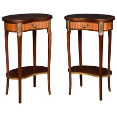 Pair of Kidney Shaped Side Tables