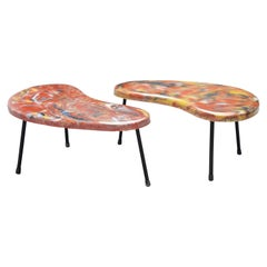 Pair of Kidney Shaped Tables France, 1960