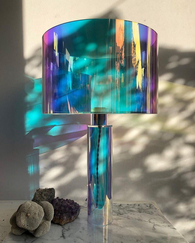 Modern Pair of Kinetic Colors Table Lamps by Brajak Vitberg For Sale