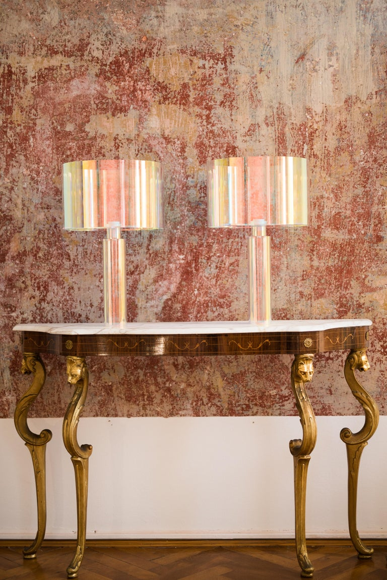 European Pair of Kinetic Colors Table Lamps by Brajak Vitberg For Sale