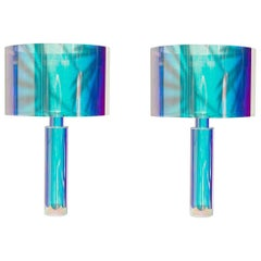 Pair of Kinetic Colors Table Lamps by Brajak Vitberg