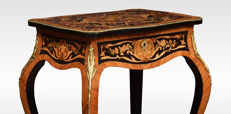 Pair of Kingwood and Marquetry Inlaid Side Tables For Sale 6