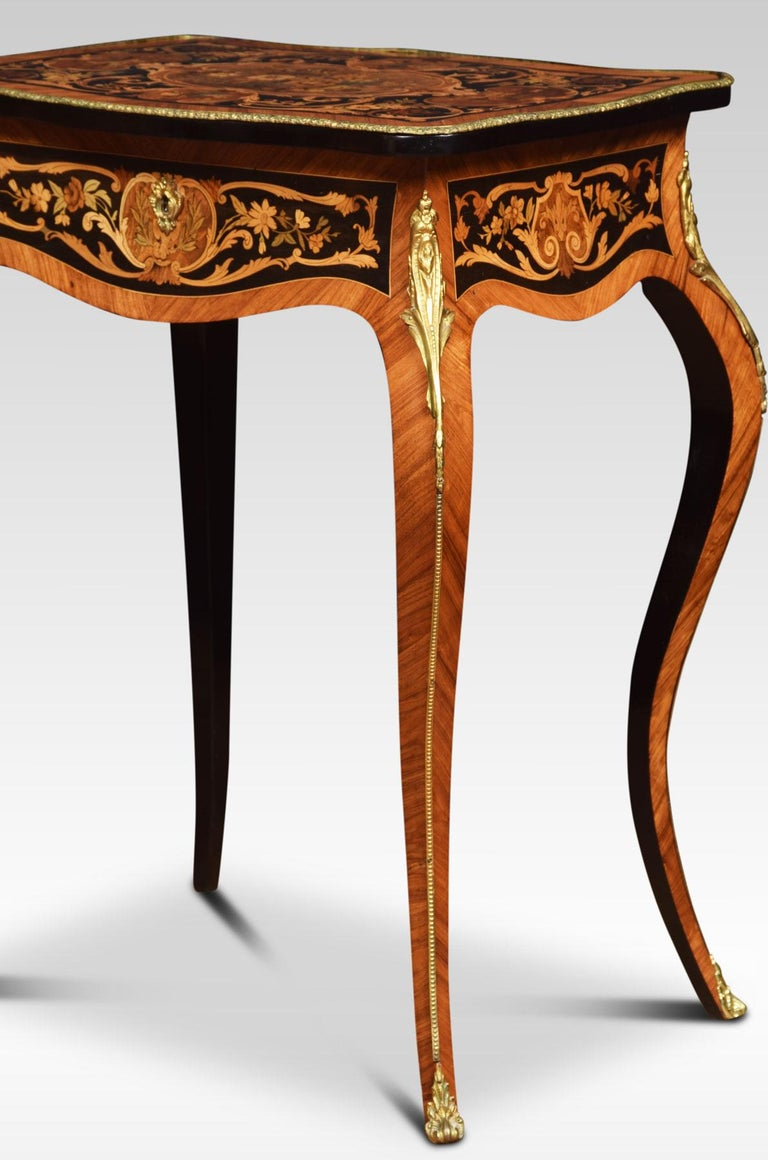 Pair of Kingwood and Marquetry Inlaid Side Tables For Sale 7
