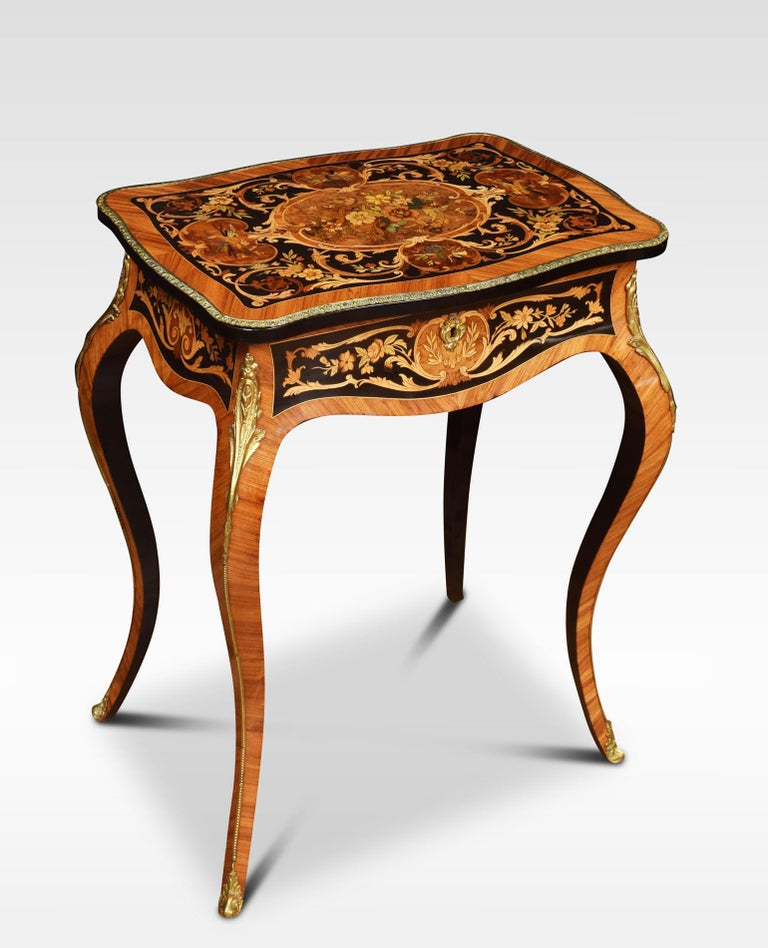 Pair of Kingwood and Marquetry Inlaid Side Tables In Good Condition For Sale In Cheshire, GB