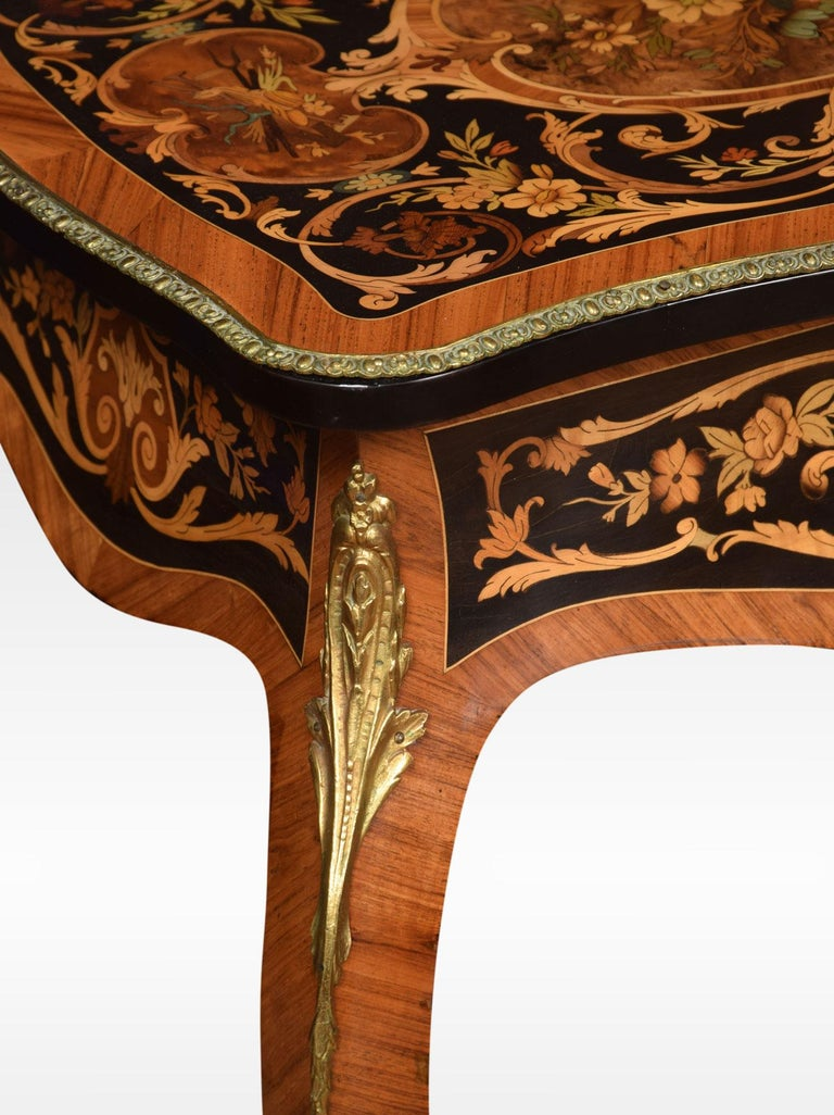 Pair of Kingwood and Marquetry Inlaid Side Tables For Sale 2