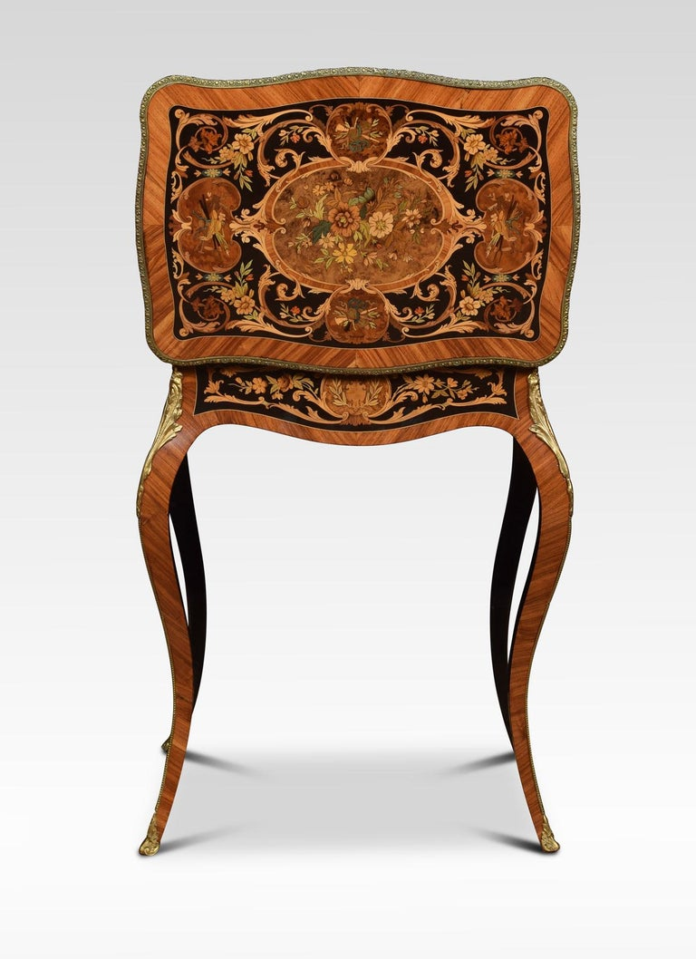 Pair of Kingwood and Marquetry Inlaid Side Tables For Sale 3