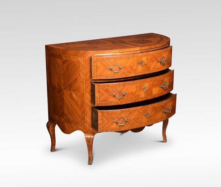 British Pair of Kingwood Demilune Commodes