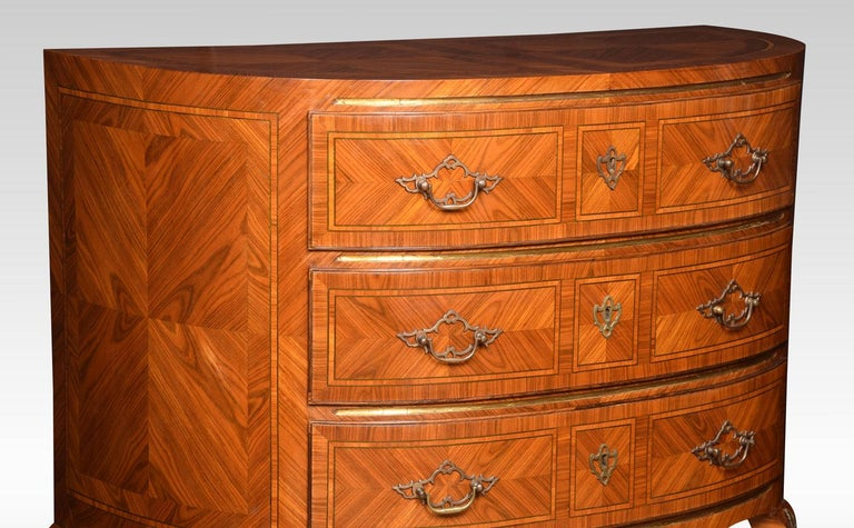 Pair of Kingwood Demilune Commodes 1