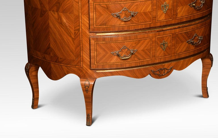 Pair of Kingwood Demilune Commodes 2