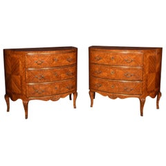 Pair of Kingwood Demilune Commodes