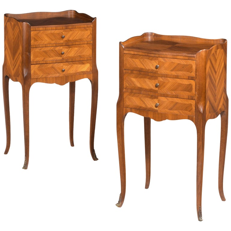 Pair of Kingwood Petite Commodes For Sale