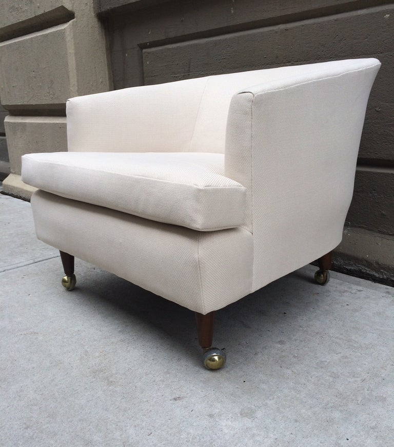 Pair of Kipp Stewart for Directional Lounge Chairs In Good Condition For Sale In New York, NY