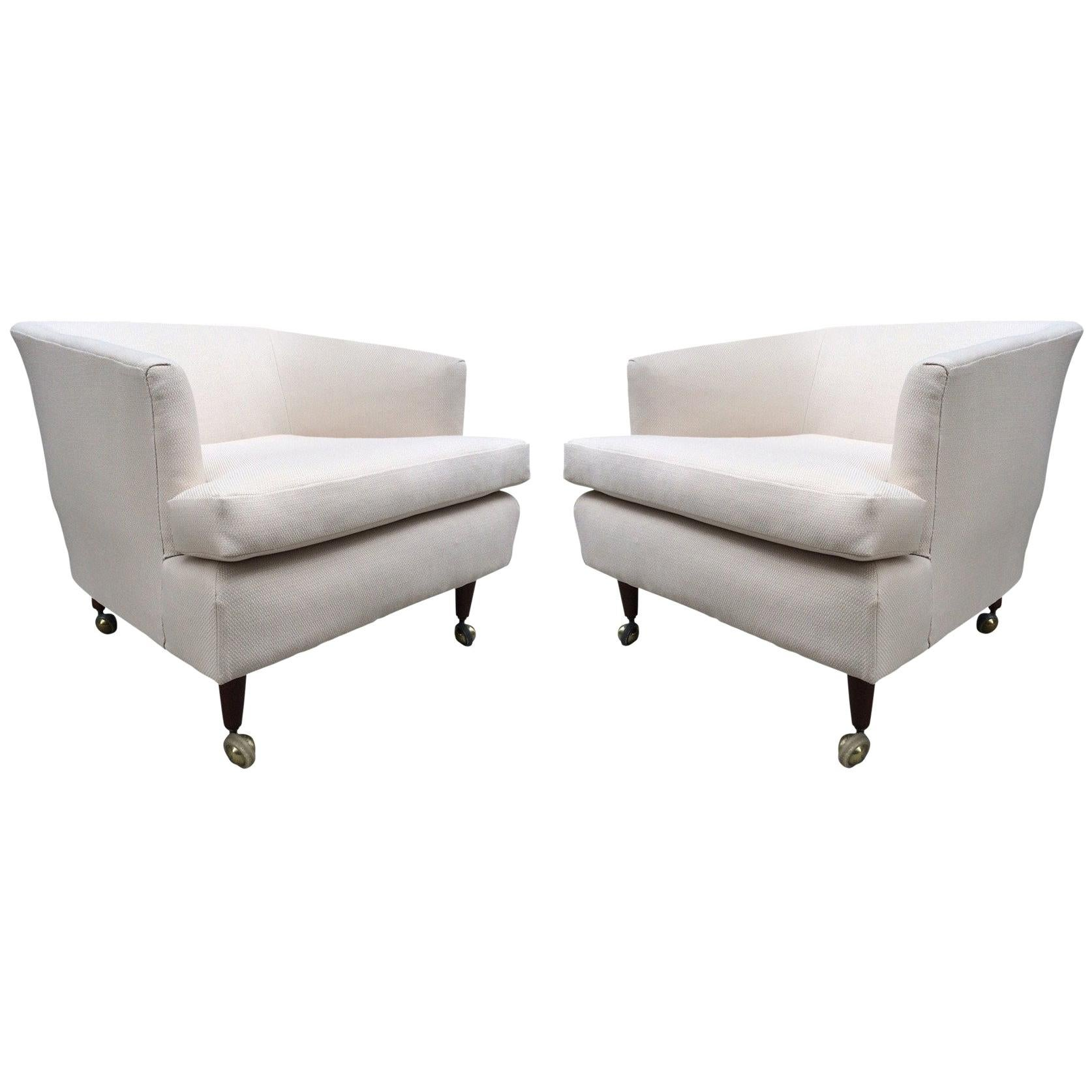 Pair of Kipp Stewart for Directional Lounge Chairs