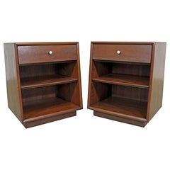 "Pair of Kipp Stewart for Drexel ""Declaration"" Walnut Nightstands"