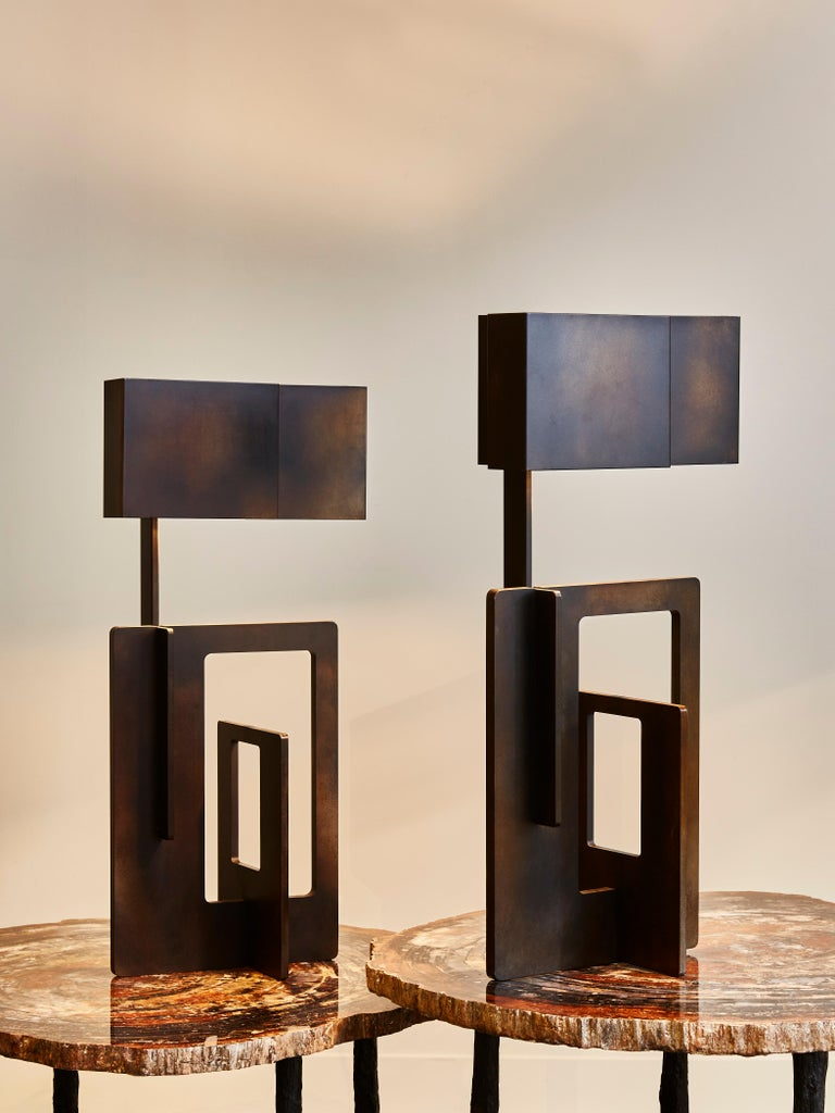 Modern Pair of Kit Table Lamps by Esperia For Sale