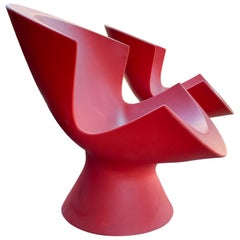 Pair of Kite Chairs Designed by Karim Rashid for Label Hot Pink Outdoor