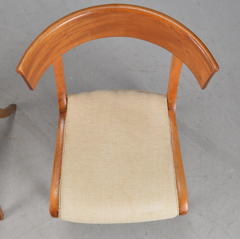 Mahogany Pair of Klismo Chairs For Sale