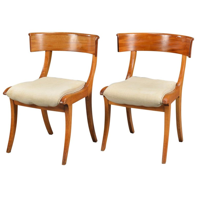 Pair of Klismo Chairs For Sale