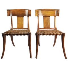 Pair of Klismos Chairs Attributed to Robsjohn-Gibbings