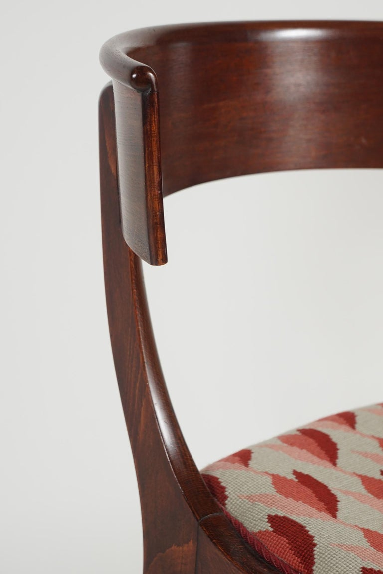Mahogany Pair of Klismos Chairs For Sale
