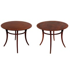 Pair of Klismos Leg Side Tables by T.H. Robsjohn-Gibbings