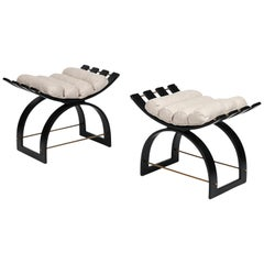 """Pair of """"Knights"""" Benches by Harvey Probber"""