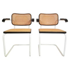 Pair of Knoll Marcel Breuer Cesca Chairs