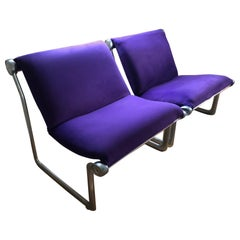 Pair of Knoll Sling Chairs, circa 1970s