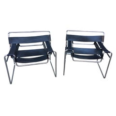 Pair of Knoll Wassily Chairs Designed by Marcel Breuer