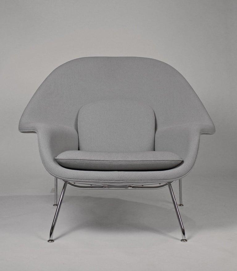 Mid-Century Modern Pair of Knoll Womb Chairs Designed by Eero Saarinen