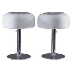 """Pair of """"Knubbling"""" Table Lamps in Chrome and Acrylic by Ateljé Lyktan"""