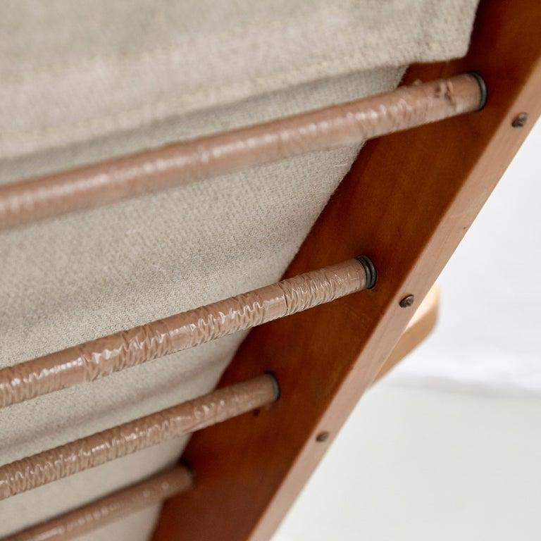 Pair of Koene Oberman, Mid Century Modern, Wood High Back Lounge Chair, 1960 For Sale 4