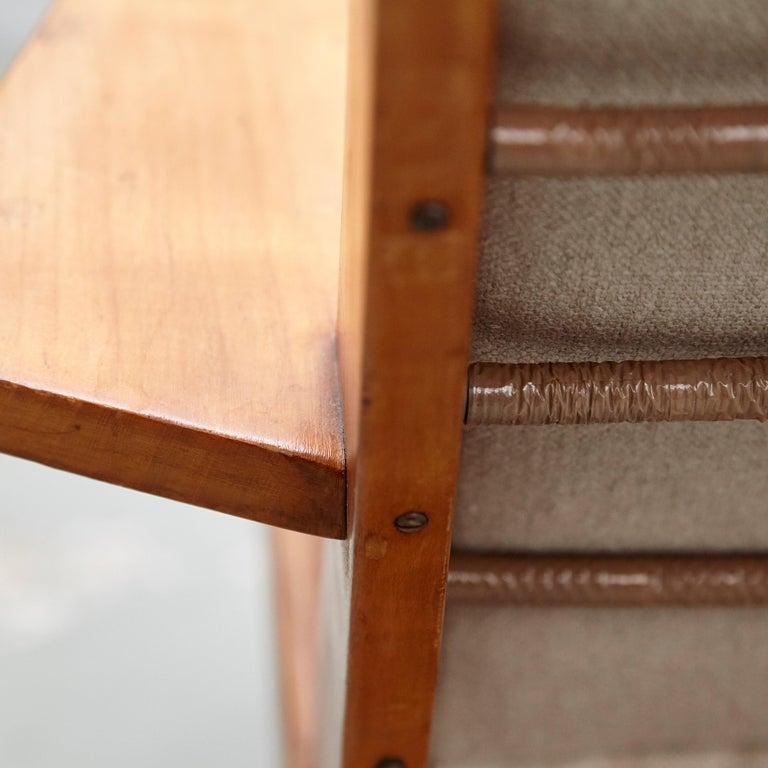Pair of Koene Oberman, Mid Century Modern, Wood High Back Lounge Chair, 1960 For Sale 5