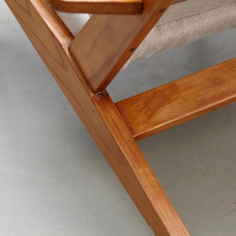 Pair of Koene Oberman, Mid Century Modern, Wood High Back Lounge Chair, 1960 For Sale 6
