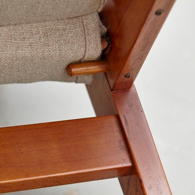 Pair of Koene Oberman, Mid Century Modern, Wood High Back Lounge Chair, 1960 For Sale 14