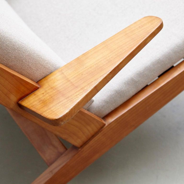 Pair of Koene Oberman, Mid Century Modern, Wood High Back Lounge Chair, 1960 For Sale 2