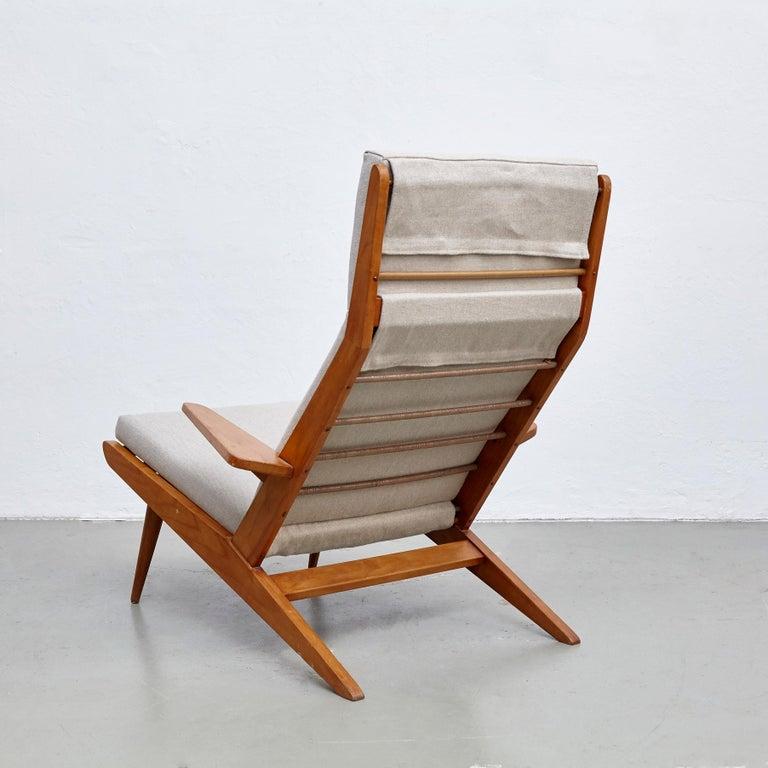 Pair of Koene Oberman, Mid Century Modern, Wood High Back Lounge Chair, 1960 For Sale 3