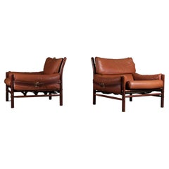 """Pair of """"Kontiki"""" Easy Chairs by Arne Norell, 1970s"""